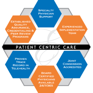 Telehealth patient care infographic